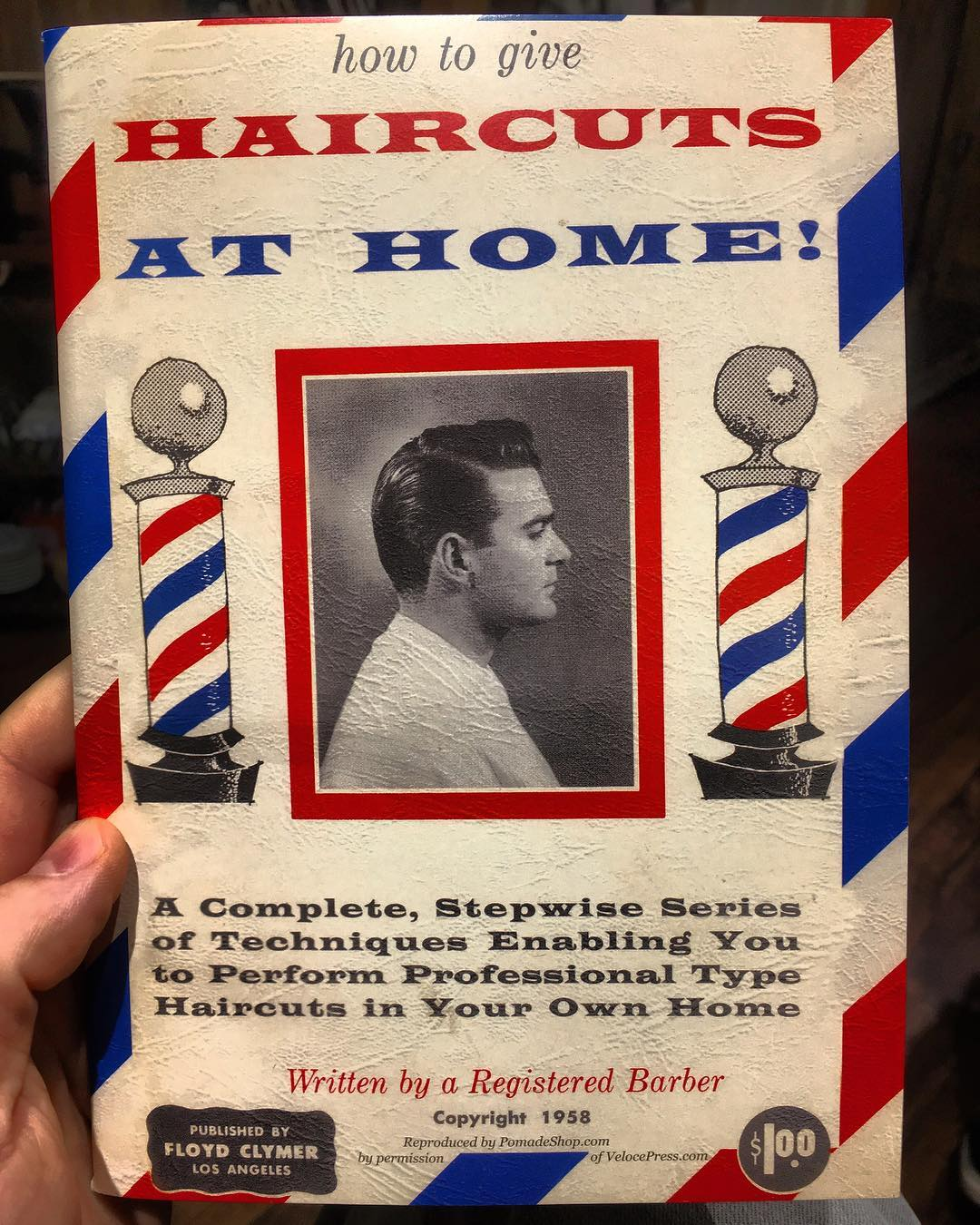 A very cool vintage barbershop book from Germany 🇩🇪. Thanks @abravintage for the great gift . Love it bro . Open all day from 11:30 to 19:00 . Walk-in's or booking appointment