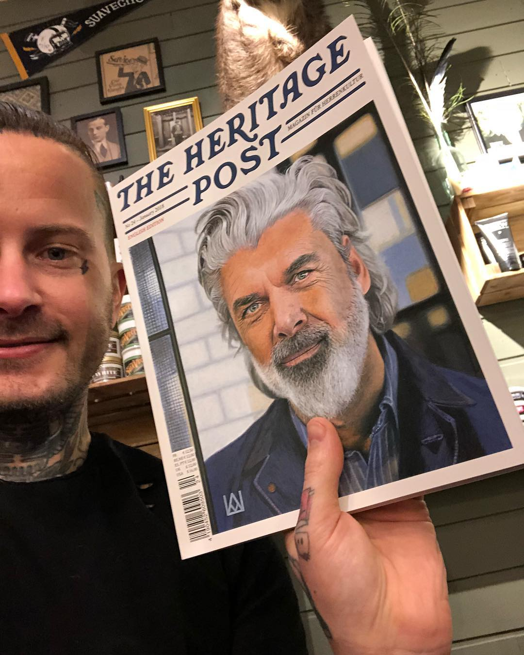I am pleased to announce that we finally have @theheritagepost  magazine at @greaseandpeace . The Best magazine out on the market . Let me know what you think and I'll start selling them here at the shop . Have a great day
