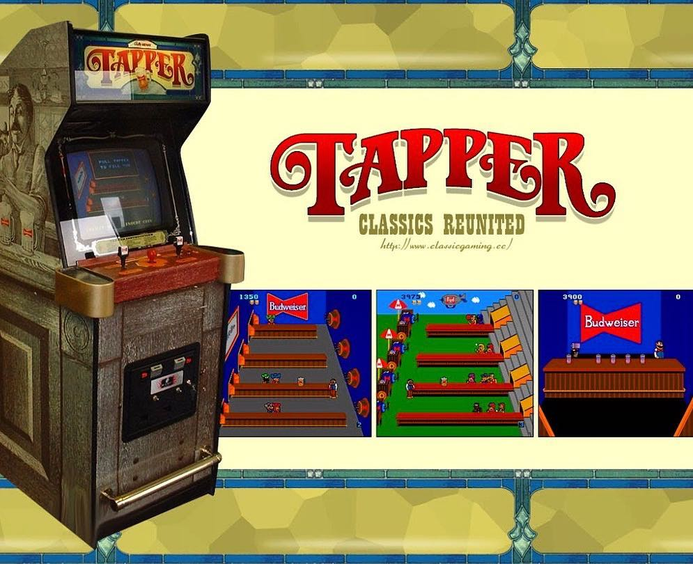 """Need help on trying to find this beautiful arcade video game called """"tapper"""" by Budweiser. Please help . @barber_vonsven we need this is the barbershop. 'PLEASE HELP"""