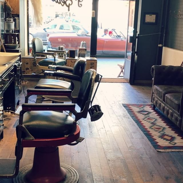 My rockabilly clients know now to make there way to the front of the line . #greaseandpeacebarbershop @greaseandpeace . Open this week from Tuesday:Saturday 11:30 to 19:00 . Rock and roll
