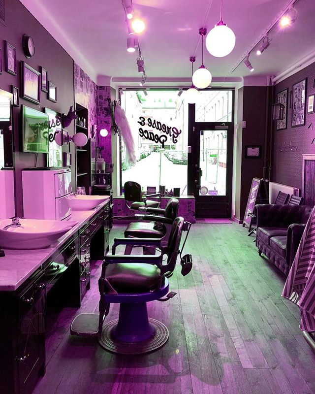 Happy two year anniversary to @greaseandpeace @barberjdog_  and @barber_vonsven . It's been one hell of a ride so far . Let's keep going a little bit more. Thank you to all are clients for all the support , love and kindness. Grease&Peace barbershop wouldn't be here with out you all . Much love ️ + it's pride week  so show some love and STOP THE HATE .