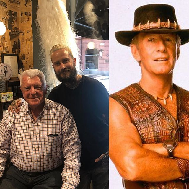 Ok so today was a awesome day . We cut the mayor of Australia 🇦🇺. And the mayors name is also the name of crocodile Dundee real name ( Paul Hogan ) a great and wonderful man . . Thank you 🏻 Paul the mayor