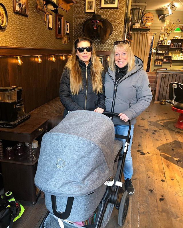My mother-in-law , baby (Cleo and wifey came by @greaseandpeace  to say hi . Baby Cleo first time at the barbershop. Made my day . ! A great day . - open tomorrow 11:30 to 19:00