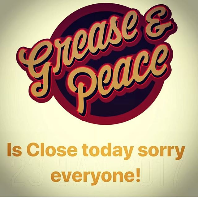Sorry everyone but I'm just not feeling well today (Sick) . So Grease&PeaceBarbershop will be closed today and only today . Have a sunny day .