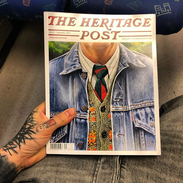 The new Heritage Post just came in . The best magazine ever . @theheritagepost @greaseandpeace .
