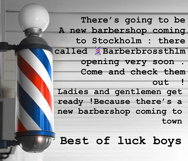 To all my clients if you need that haircut .  Go back to the original address were grease and peace barbershop was . It's now called @barberbrossthlm  Barber Bro's of Stockholm Sweden . At Norra Agnegatan 36 : Stockholm Sweden . Best of luck German . Hope to see you in the summer . Best regards J... p.s to all my clients barber bro's will help you get through this tough time we're going through . Get that haircut And fell great about your self .