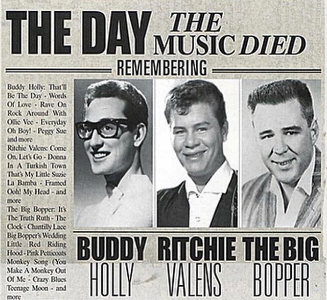 I just found out that yesterday was the day we lost the : big bopper , Ritchie Valens & Buddy holly In a horrible plane crash . If I would've known that information . I probably would have flown yesterday.  The barbershop  will be very much open today . (11:30 to 19:00) paying tribute to these guys today 50's music all day. Only at Grease&Peace barbershop #greaseandpeacebarbershop